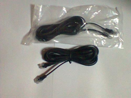 cable telefonico con conector rj.11 -importado- 3mts.