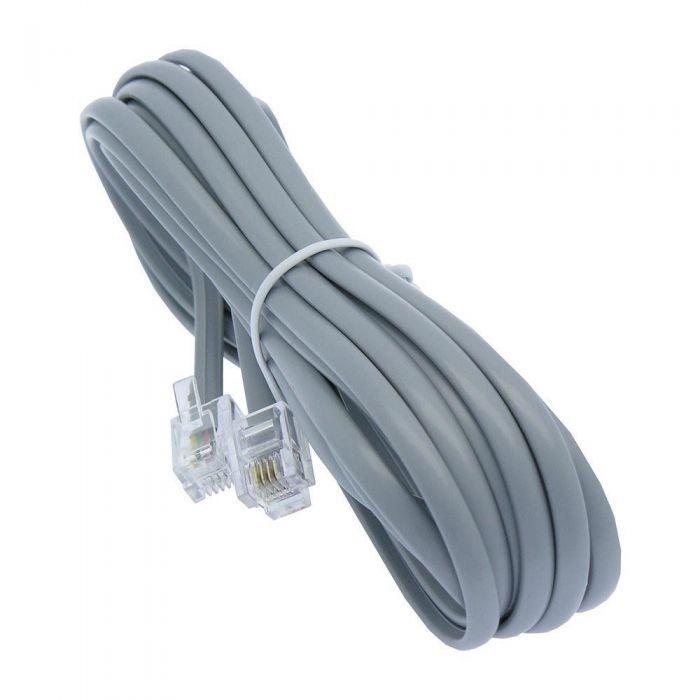 Cable Telefonico Para Telefonos De Linea Color Gris - $ 23,09 en ...