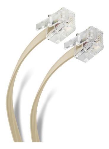 cable telefónico plug a plug, para extensiones, de 15 metros