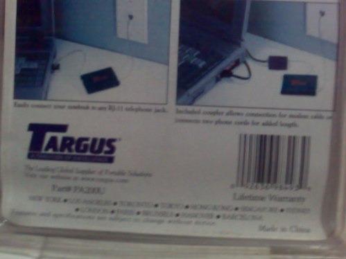 cable telefónico retractil targus pa200u, gran calidad 2 mts