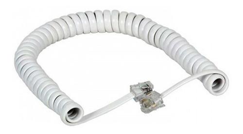cable telefónico terminal rj11 rulo espiral 2 metros