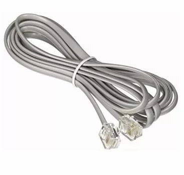 cable teléfono fijo fax rj11 línea cableada de 2 mts