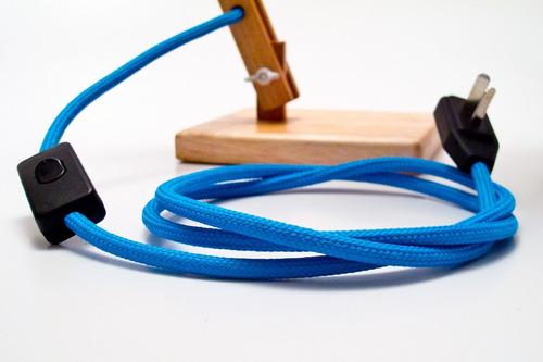 cable textil colores por metro
