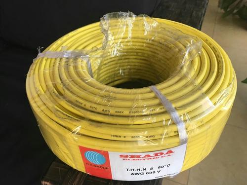 cable thhn nro. 8 rollos de 100 mts