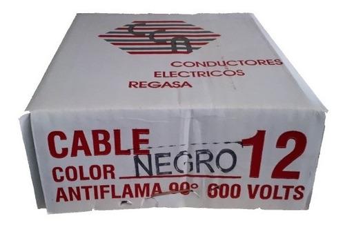 cable thw 12 regasa linea economica 90 metros 100% cobre