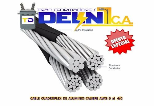 cable thw ttu duplex triplex cuadruplex y conductores desnud
