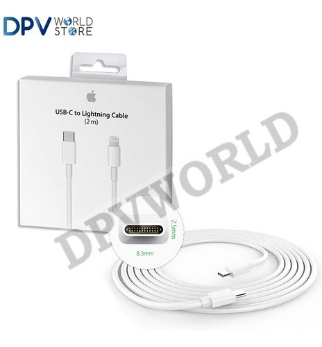 cable tipo c a tipo c macbook apple 100% original 2m