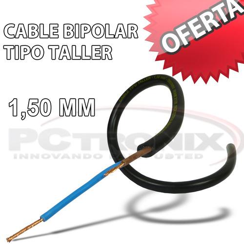 cable tipo taller 2x1,50mm bipolar ignífugo flexible x metro
