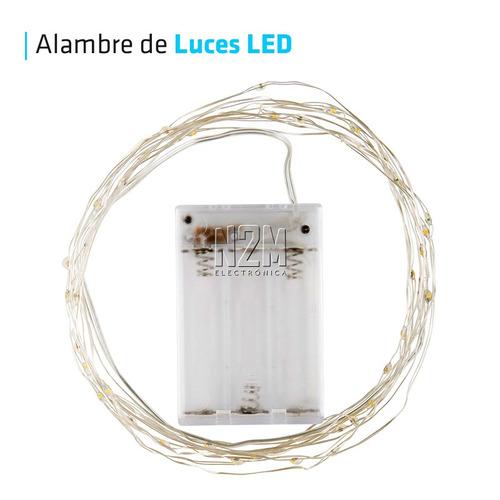 cable tira led hilo alambre luces led 3 metros pilas