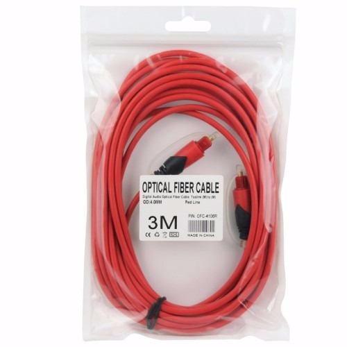 cable toslink de fibra optica de audio digital 3 metros