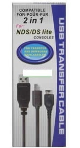 cable transferencia de datos nintendo ds ndsl lite cargador