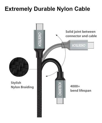 cable trenzado usb 3.0 tipo c 2mt choetech