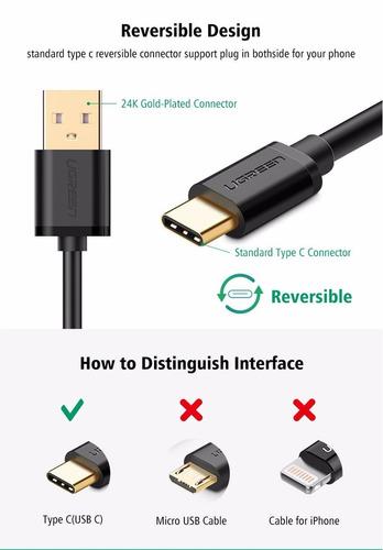 cable ugreen - usb a tipo c (usb tipo c) de 3 mrts. - ge