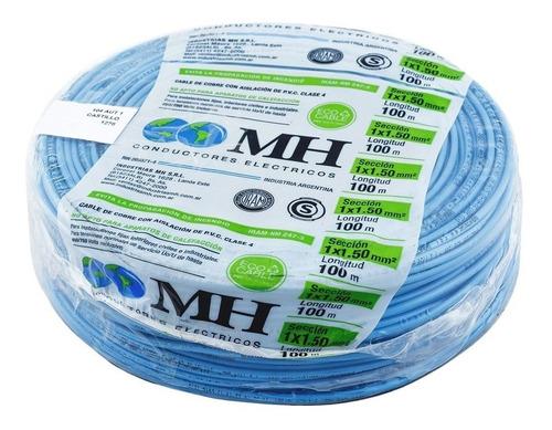 cable unipolar 1.5 mm2 nor. iram rollo x100 mts mh