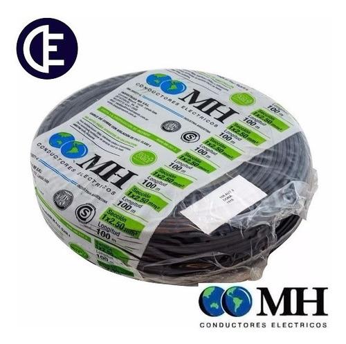 cable unipolar 2.5 mm2 nor. iram rollo x 100 mts negro m.h.
