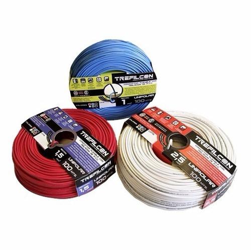 cable unipolar 2.5mm x 10 metros trefilcon normalizado