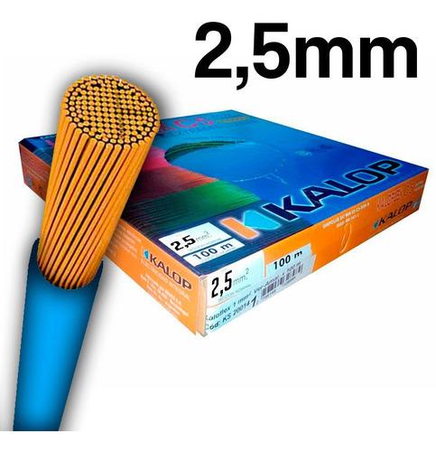 cable unipolar kalop norma iram 2.5mm cat.5  x 3 unidades