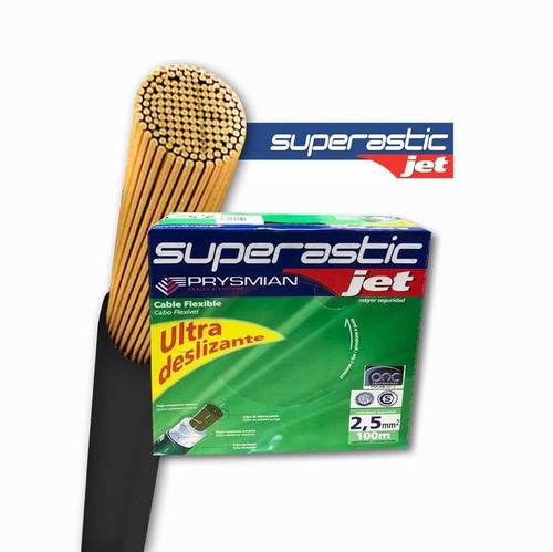 cable unipolar superastic prysmian 2.5 x300mts y 1.5 x200mts