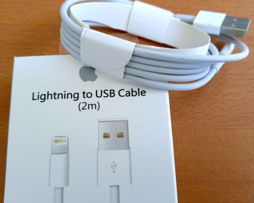 cable usb 2 metros+ protecto original iphone 5 5s 6 6s 7 8 x