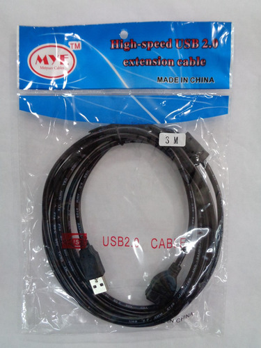 cable usb 2.0 extension 3metros macho a hembra