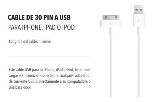 cable usb 30 pin carga & sincroniza - para iphone ipad ipod