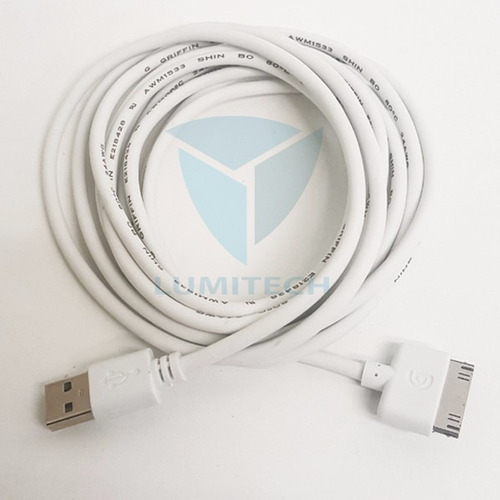 cable usb 3mt para iphone - ipod griffin - 30 pin