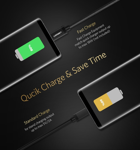 cable usb a  micro usb  android  resistente marca ugreen