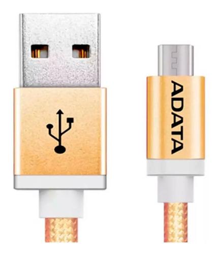 cable usb a micro usb celulares adata smartphone 1mt colores