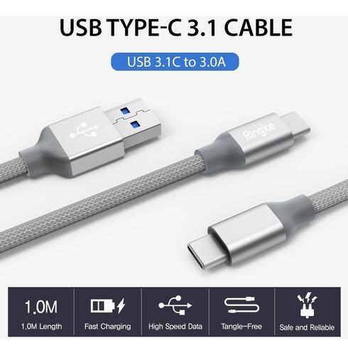 cable usb c 3.1 ringke carga rápida super resistente