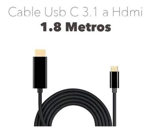 cable usb c a hdmi 1.8 metros ultra hd 4k usb c noganet