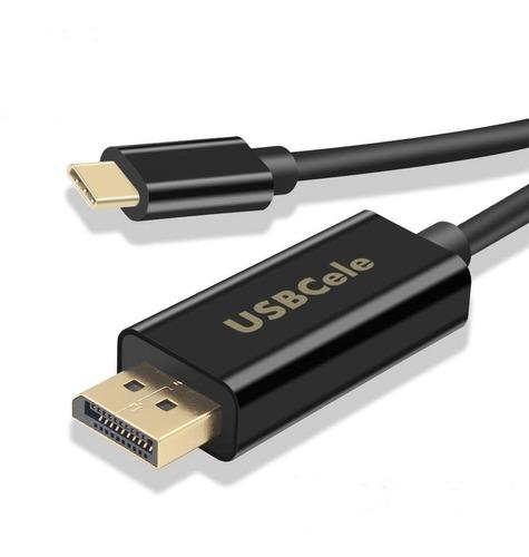 cable usb-c thunderbolt 3 compatible a displayport 4k 60hz