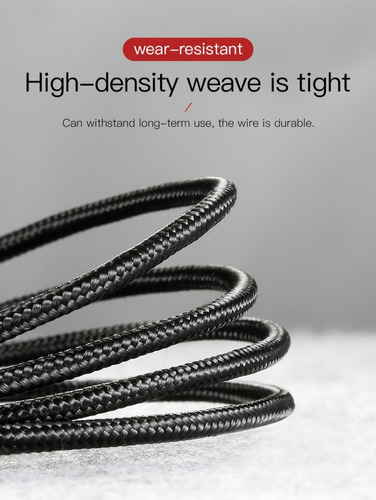 cable usb carga rapida 2.4a micro usb reversible baseus pro