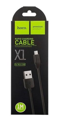 cable usb carga rápida y datos premium hoco x1 original ficha microusb