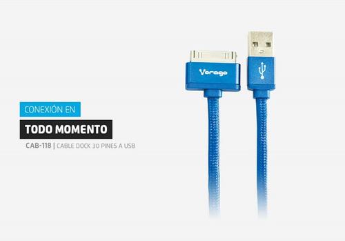 cable usb carga y transfiere para iphone 4 vorago cab-118