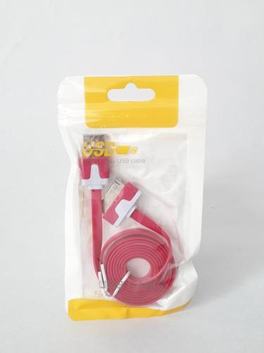 cable usb cargador iphone 4 4s  datos 1 mts ipod apple mayor