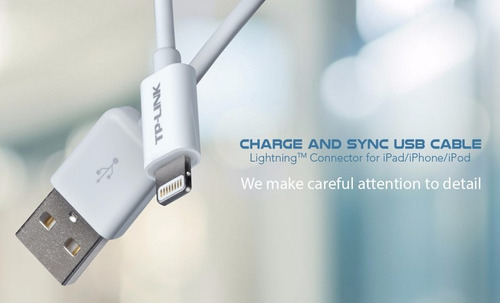 cable usb cargador lightning tp-link iphone ipad certificado