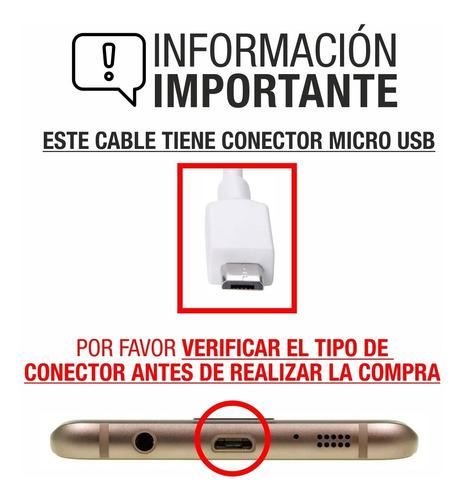 cable usb compatible con samsung  j1 j2 j3 j4 j5 j6 j7 j8 s7