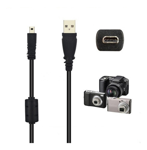 cable usb datos cámara digital 8 pines alternativo
