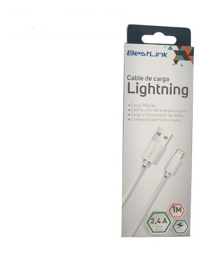 cable usb datos lightning compatible iphone 5 / 6 / 7/ 8/ x
