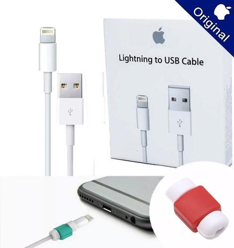 cable usb datos + protector original iphone 5 5s 6 6s 7 8 x