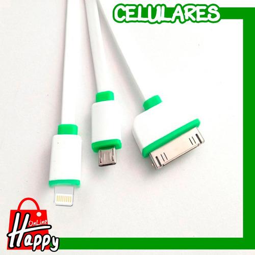 cable usb genérico 3 en 1 para iphone - ipad - ipod de apple