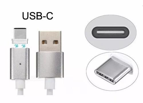 cable usb iman magnetico usb type c tipo c 3.1 mallado