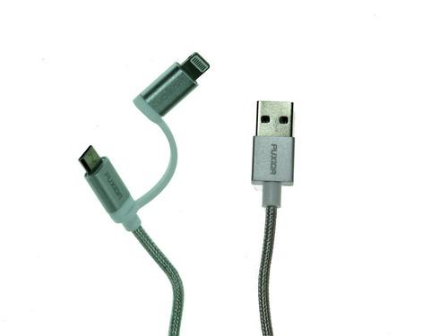 cable usb iphone c  micro usb lightning carga rapida mallado