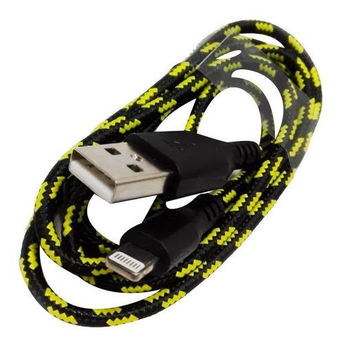 cable usb lightning 5/6/7/9/x tela carga 1 metro