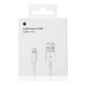 Cable Usb Lightning iPhone 5s 5c 6 6s 7 8 X Xs Max Plus Original Sellados En Caja - 1 Metro + Cable Regalo- Tienda