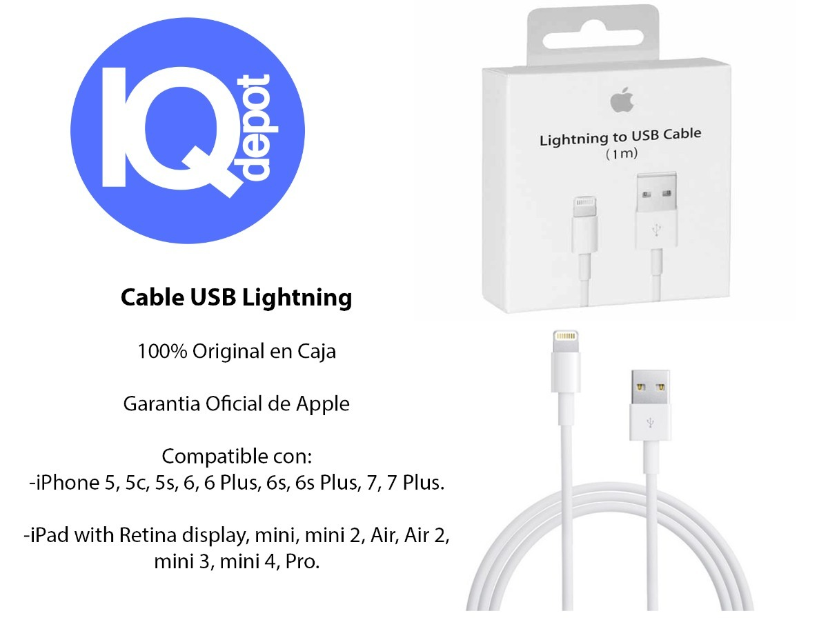 5dcaf1cdc7e Cable Usb Lightning Original Apple iPhone 5s Se 6 6s 7 Plus - $ 459 ...