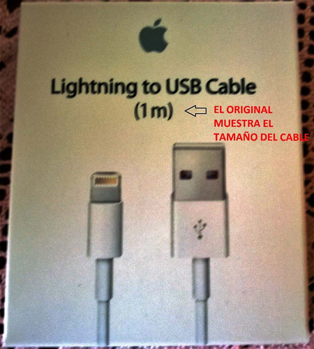 cable usb lightning para iphone x/5s/6s/7/8plus-se original!