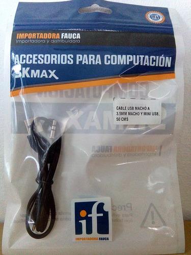 cable usb  macho a 3.5 y micro usb suministros fauca