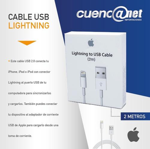 cable usb md819zm/a lighning 2mt apple