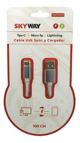 cable usb micro usb 1metro de 2 amper mallado, de tela resistente. carga rápida. samsung, huawei, motorola, lg, xiaomi